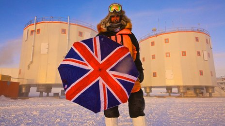 Alex Kumar outside Concordia Station