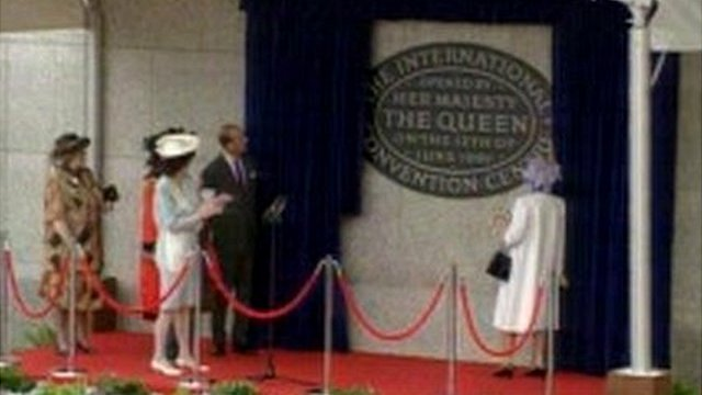 The Queen opens the ICC in Birmingham
