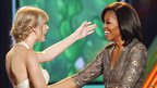 Nickelodeon Kids' Choice Awards 2012 - Taylor Swift and Michelle Obama