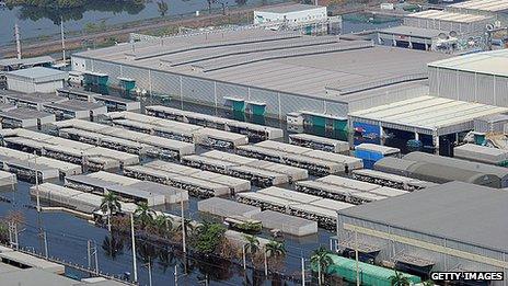 Flooded Thai industrial estate