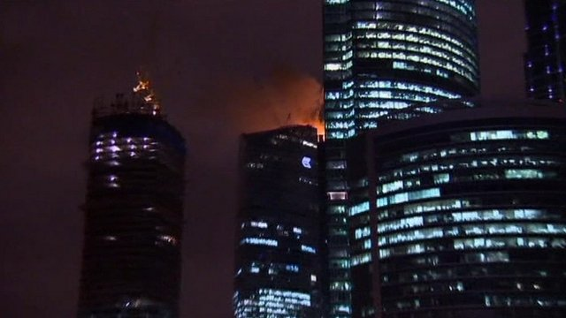 Russian skyscraper fire