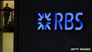 RBS sign outside its office