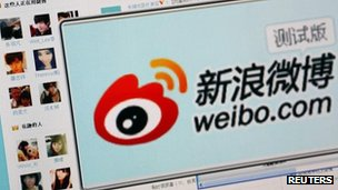 "The logo of Sina Corp's Chinese microblog website ""Weibo"" (file photo)"