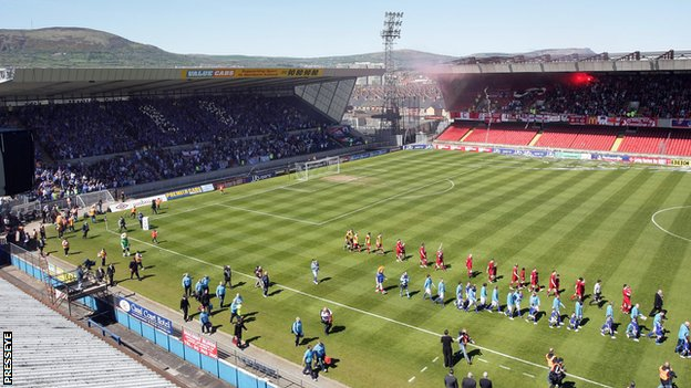 Windsor Park stages the Northern Ireland football team's home matches