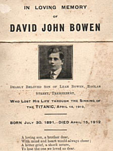 Memorial David John Bowen