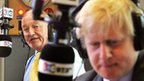 Ken Livingstone, left, with Boris Johnson, right