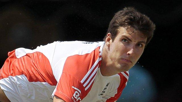 England fast bowler Steve Finn