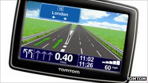 TomTom navigation device