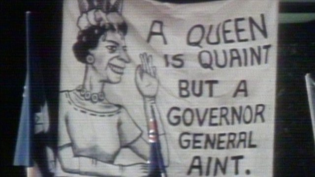 Cheers and protests greet Queen in Sydney