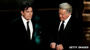 Charlie Sheen (left) and his father Martin Sheen