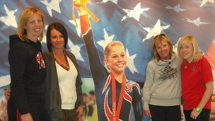 Visiting Chow's Gym, stomping ground of gymnast Shawn Johnson