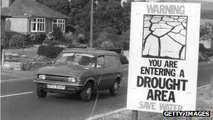 Poster warning of drought