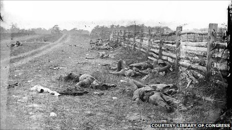 Confederate dead at the Battle of Antietam