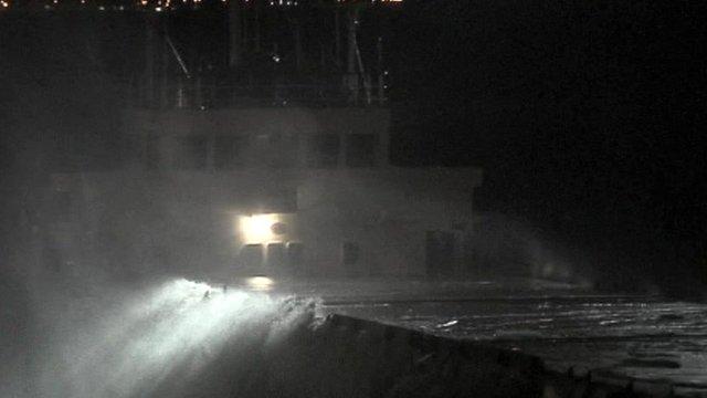 Cargo ship ran aground off Conwy coast