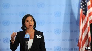 Susan Rice at the UN in New York (2 April 2012)