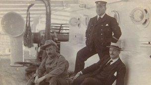 Photograph showing storesman Charles Morgan