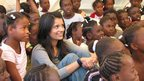 Sonali Shah and children in Haiti