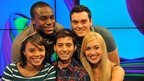 Newsround presenters Leah Gooding, Ore Oduba, Ricky Boleto, Joe Tidy and Hayley Cutts.