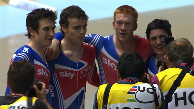 Team GB&#039;s 4000m team pursuit quartet