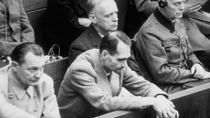 Rudolf Hess at the Nuremberg trials