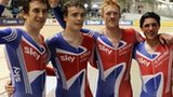 GB's Geraint Thomas, Steven Burke, Edward Clancy and Peter Kennaugh