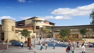 Artist's impression of new cinema - image courtesy Ashfield Land
