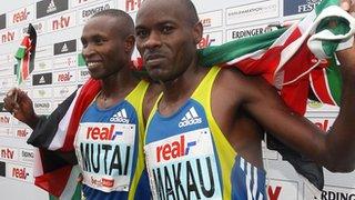 Geoffrey Mutai and Patrick Makau