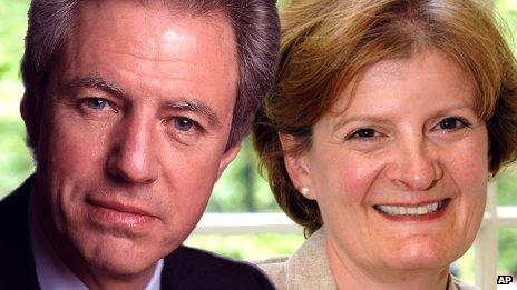 Barclays chairman Marcus Agius and National Trust DG Dame Fiona Reynolds