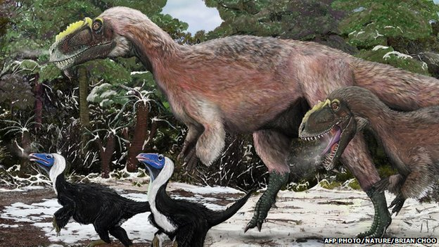 Yutyrannus huali, a newly discovered giant feathered dinosaur