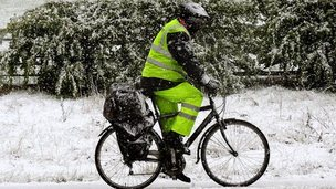 A man cycling in south Derbyshire