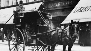 Horse-drawn Hackney carriage