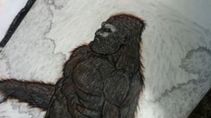 Bart Nunnelly Big Foot drawing