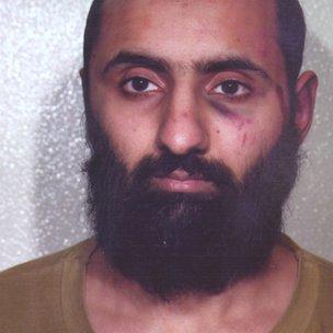 Babar Ahmad's police mugshot from 2003