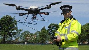 Merseyside police officer flies drone