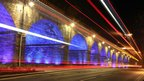 Light trails on the Kilmarnock Railway Viaduct
