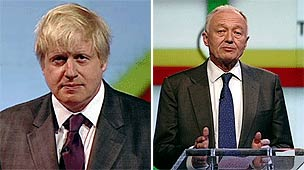 Boris Johnson and Ken Livingstone at the Newsnight debate
