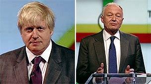 Boris Johnson and Ken Livingstone at the Newsnight debate