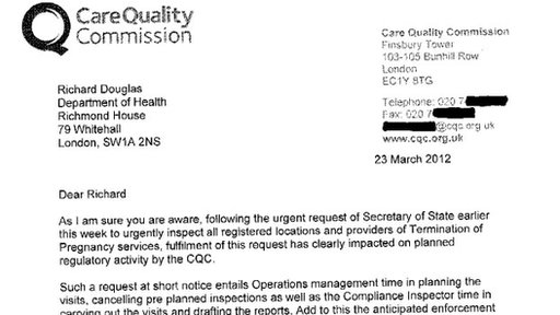 CQC letter