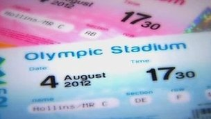 How a London 2012 ticket might look