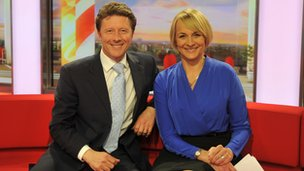 Louise Minchin and Charlie Stayt