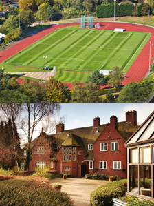 University of Birmingham running track and Conference Park buildings
