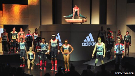 Team GB athletes in their 2012 kit