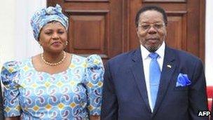 Callista Chapola-Chimombo and Mr Mutharika
