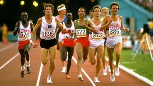 Runners in a 5000-metre heat in 1984