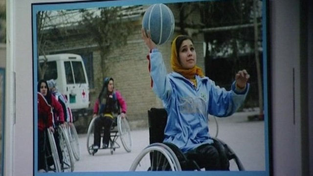 Picture from &quot;Lend me your leg&quot; exhibition in Kabul.