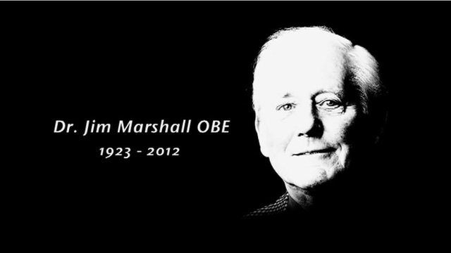 Jim Marshall OBE 1923-2012 graphic