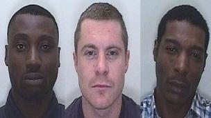 Owen Bygraves, Lewis Hicks and Samuel Kofi Ackah
