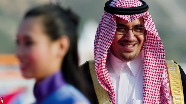 Saudi Olympic Committee president Prince Nawaf bin Faisal 