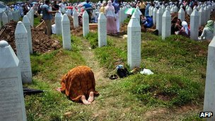 Graves of Srebrenica's Bosnian Muslim victims