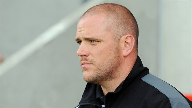 Morecambe manager Jim Bentley